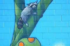 Upper Mural Raccoon